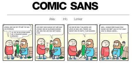 Comic Sans - tegneserien