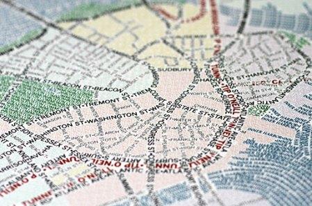 Typografisk kart over Boston - detalj